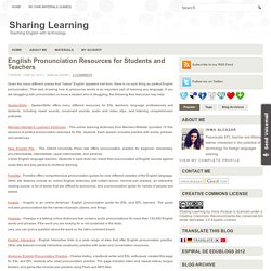English Pronunciation Resources for Students and Teachers ~ Sharing Learning