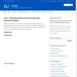 AEC - Pronunciation For Success 2nd Edition (Videos)