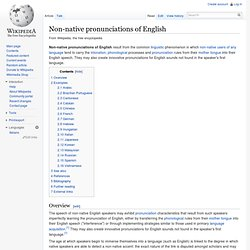 Non-native pronunciations of English