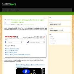 Pronunciator: 60 langues 3 millions de leçons