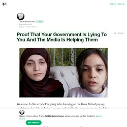 Proof That Your Government Is Lying To You And The Media Is Helping Them
