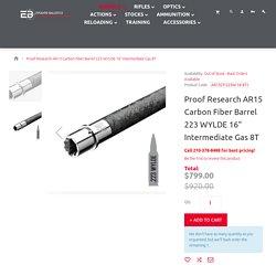 "Proof Research AR15 Carbon Fiber Barrel 223 WYLDE 16"" Mid Gas 8T"
