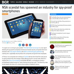 NSA spy-proof smartphones being developed
