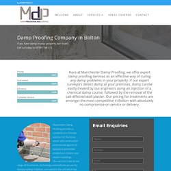 Damp Proofing Bolton - Manchester Damp Proofing