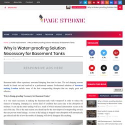 Why is Water-proofing Solution Necessary for Basement Tanks