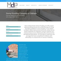 Damp Proofing Oldham - Manchester Damp Proofing