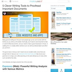 5 Clever Writing Tools to Proofread Important Documents