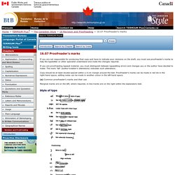 16.07 Proofreader's marks - 16 Revision and Proofreading - The Canadian Style - TERMIUM Plus® - Translation Bureau