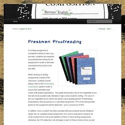 Freshmen Proofreading