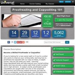 Online Course: Proofreading and Copyediting 101 - CEU Certificate