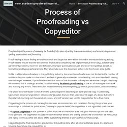 www.academicproofreadingservices.co.uk - Process of Proofreading vs Copyeditor