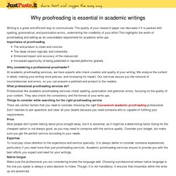 Why proofreading is essential in academic writings