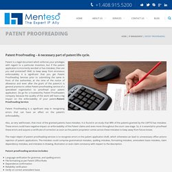 Patent proofreading service to proofread your patent application