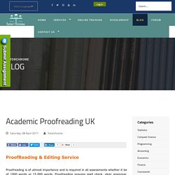 Trusted High Quality Academic Proofreading Services UK - Tutorchrome
