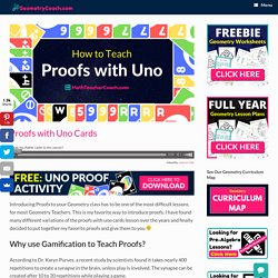 Proofs with Uno Cards ⋆ GeometryCoach.com