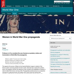5. Women in World War One - Propaganda