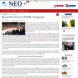Russia Pulls UN Cover Off MH17 Propaganda