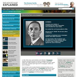 How did the Nazis use propaganda? - The Holocaust Explained Website
