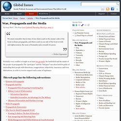 War, Propaganda and the Media — Global Issues - FrontMotion Firefox