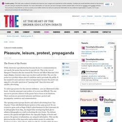 Pleasure, leisure, protest, propaganda
