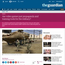 Are video games just propaganda and training tools for the military?