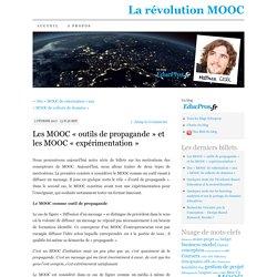 Les MOOC «outils de propagande» et les MOOC «expérimentation»