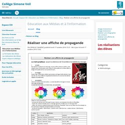 Réaliser une affiche de propagande - Education aux Médias et à l'Information - Simone Veil de Saint Jory