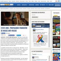 Etats-Unis : propagande financière de masse anti-Russie