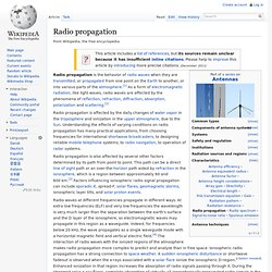 Radio propagation#Sporadic-E propagation