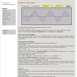 Propagation des ondes élastiques