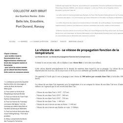 La vitesse du son - sa vitesse de propagation fonction de la température - Non catégorisé - Nantes Erdre