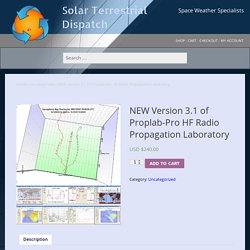 NEW Version 3.1 of Proplab-Pro HF Radio Propagation Laboratory – Solar Terrestrial Dispatch