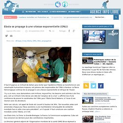 Ebola se propage à une vitesse exponentielle (ONU)