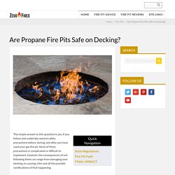 Can You Put a Fire Pit On a Wooden Deck