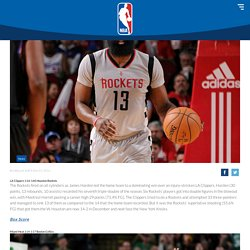 Harden TD Propels Rockets Over Clippers; Thomas Has 52 In Win Over Heat