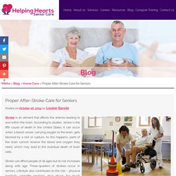 Proper After-Stroke Care for Seniors