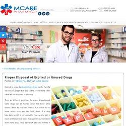 Proper Disposal of Expired or Unused Drugs