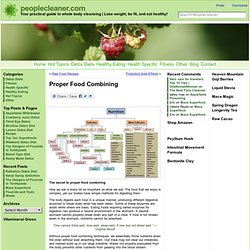 Proper Food Combining - Get the best from your food