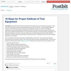 10 Steps for Proper Kalibrasi of Test Equipment