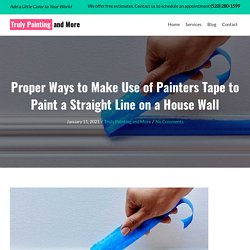 Proper Ways to Make Use of Painters Tape to Paint a Straight Line