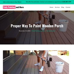 Proper Way To Paint Wooden Porch