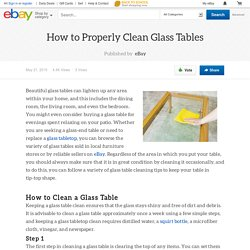 How to Properly Clean Glass Tables