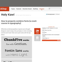 How to properly combine fonts (a crash course in typography)