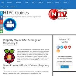 Properly Mount USB Storage on Raspberry Pi