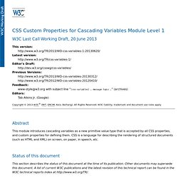 CSS Variables Module Level 1