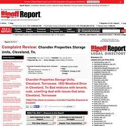 Chandler Properties Storage Units, Cleveland, Tn.