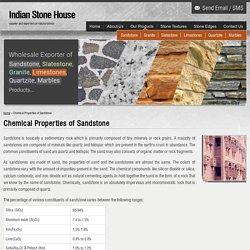 Chemical Properties of Sandstone,Sandstone Chemical Properties,Chemical Composition of Sandstone