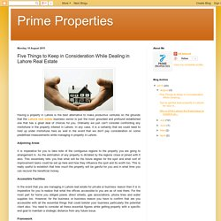 Five Things to Keep in Consideration While Dealing in Lahore Real Estate