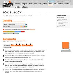 CSS3 properties exposed in »shadow«