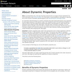 About Dynamic Properties
